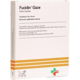 Фуцидин 2% 10 пропитанных марлей 10х10 см