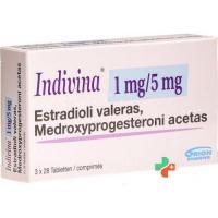 Индивина 1 мг / 5 мг 3 х 28 таблеток