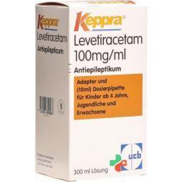 Кеппра пероральный раствор 100 мг/мл флакон 300 мл с дозирующей пипеткой 10 мл