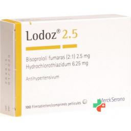 Лодоз 2.5/6.25 мг 100 таблеток покрытых оболочкой