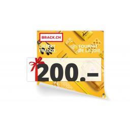 Online-Geschenkgutschein CHF 200.-