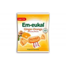 Em-eukal Ingwer-Orange Bonbons zuckerfrei 50 g