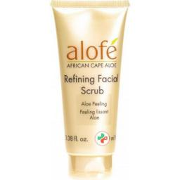 Alofe Aloe Refining Facial Scrub в тюбике 100мл