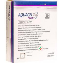 Aquacel Ag Foam 12.5x12.5xcm Adhesive 10 штук