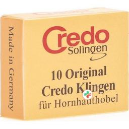 Credo Ersatzklingen Hornhauthobel Schachtel 10 штук