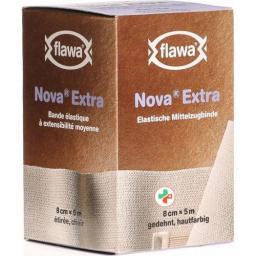 Flawa Nova Extra эластичный Mittelzugbinde 8смx5m Hautfarben