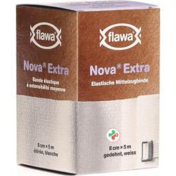 Flawa Nova Extra эластичный Mittelzugbinde 8смx5m Weiss