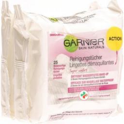 Garnier очищающие салфетки Super Confort Duo 2x 25 штук