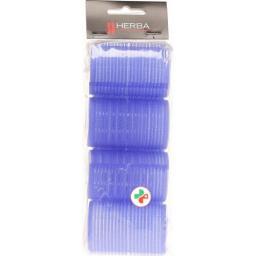 Herba Haftwickler 40мм Geflockt Blau 4 штуки