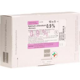 Натрия хлорид Биксель раствор для инъекций 0.9% 5 мл х 10 ампул