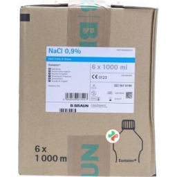 NaCl Braun Spullosung 0.9% West 6 Ecotainer 1л