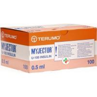 Terumo Myjector U-100 Insulin-Spritzen 27г 12x0.4мм 100x 0.5мл