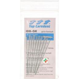 Top Caredent IDB-GK Interdentalbursten Grun konisch 10 штук
