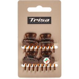 Trisa Mini-Klemmen Braun 4 штуки