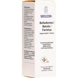Weleda Belladonna/betula/formicaкапли для глаз 10мл