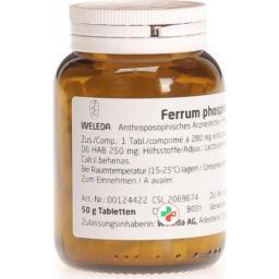 Weleda Ferrum Phosphoricum в таблетках, D 6 50г