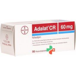 Адалат CR 60 мг 98 ретард таблеток