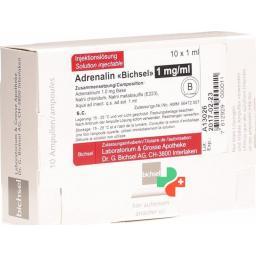 Адреналин Биксель 1 мг/мл 10 ампул 1 мл раствор для инъекций