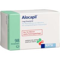 Алокапил 1 мг 98 таблеток покрытых оболочкой