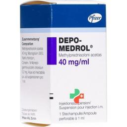 Депо-Медрол 40 мг/мл флакон 1 мл суспензия для инъекций