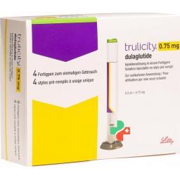 Трулисити раствор для инъекций 0,75 мг / 0,5 мл 4заполненных шприца